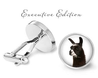 Llama Cufflinks - Llama Wedding Gift - Llamas Cuff Links (Pair) Lifetime Guarantee (S0087)