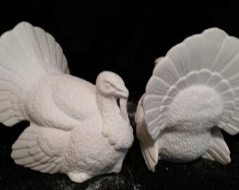 Big Tom Turkey - Unpainted Ceramic Bisque