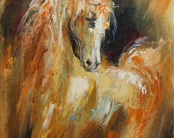 Horse Wall art, Giclee canvas print, Oil painting print, Animal print, Modern artwork, Fine art print, Living room decor, Horse painting
