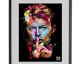 David Bowie Hand drawn A3 Poster