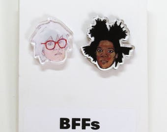BFFs Acrylic Earrings