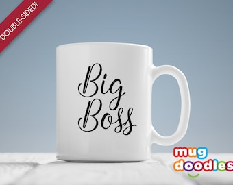 Big Boss Coffee Mug, Gift for Mom, Gift for Her, Gift for Him, Office Desk Accessories, Big Boss Mug, Gift for Wife, Big Boss Mug, MD470