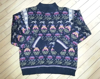 Ugly Easter Sweater! The Import Workshop Vintage Sweater - Women M