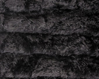 Quality 340S/C - Mohair - 1/4 yard (Fat) in Intercal's Color 124-Black. A German Mohair Fur Fabric for Teddy Bear Making, Arts & Crafts