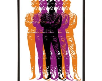 Mr Sloane - Stylish pop art of Joe Orton's stage play adapted for film with Peter McEnery dressed in his chauffeur leather outfit & cap