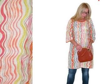 Vintage Indian kurta dress Boho orange tunic Hippie  dress Ethnic striped colorful summer Bohemian tunic  plus size Oversize handmade kurta