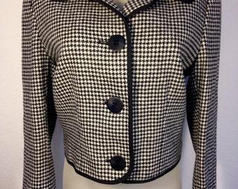 FREE  SHIPPING  Vintage Designer Woman HOUNDSTOOTH Blazer