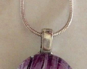 5k Running Art Glass Pendant Necklace - running jewelry - runner's jewelry