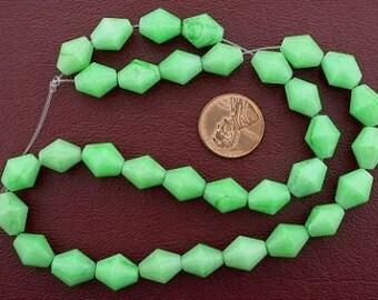 bicone gemstone green aventurine beads