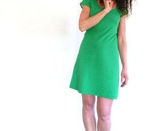 Dress, short-sleeved, green-mini-Marine