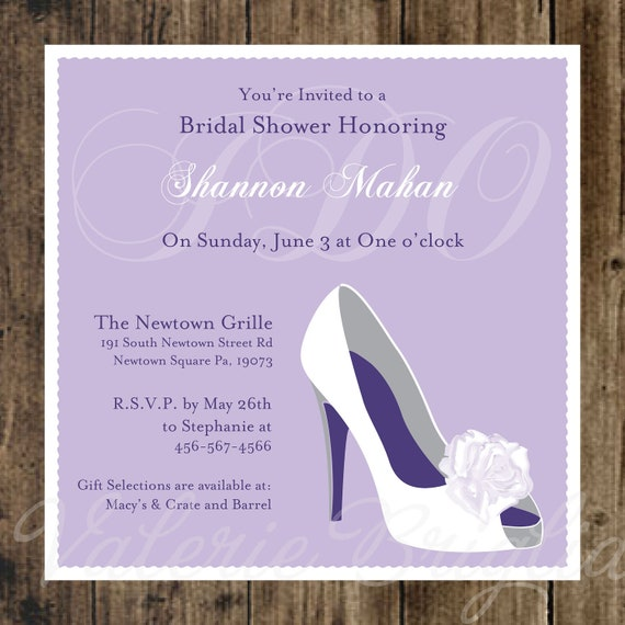 Wedding shoe bridal shower invitation printable file like this item filmwisefo Images