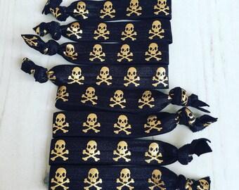 Pirate skull and cross bones boys party bag favour wristband bracelet