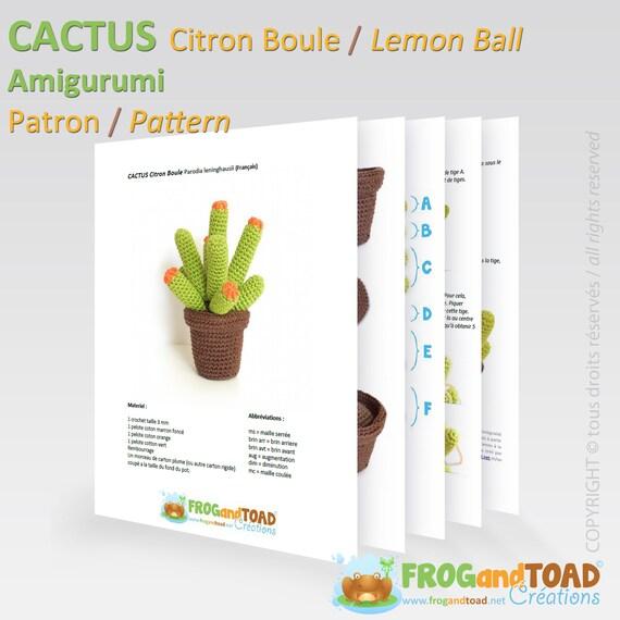 CACTUS Lemon Ball Amigurumi Crochet PDF Pattern