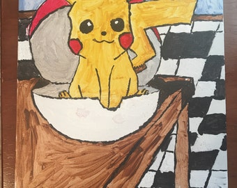 Pikachu in the Pokeball