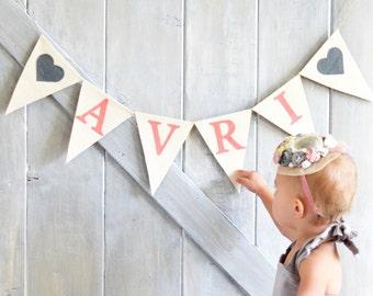 Canvas Name Banner, Custom Name Banner, Baby Shower Decor, Baby Name Banner, Nursery Decor, Baby Shower Banner, Personalized Name Banner