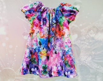 Girls floral Peasant dress Size 18 mths to 2 yrs