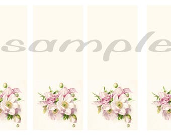 Floral/ vintage / background/ color/ bookmark/add your own text/quote/by add a note
