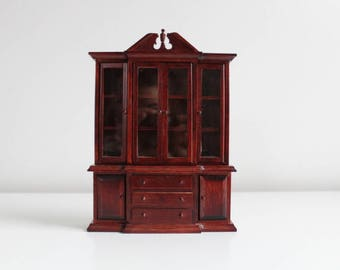 Miniature Hutch, Dollhouse Hutch, Miniature China Hutch, Dollhouse China Hutch, Miniature China Cabinet, Dollhouse China Cabinet, Miniature