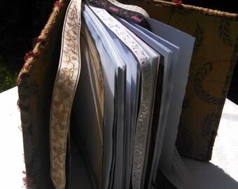 Earthy Tapestry blank book, blank grimoire, blank journal