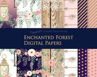 Enchanted Forest Digital Paper Pack - DP147