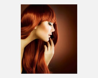 Hair Color & Texture Poster or Canvas