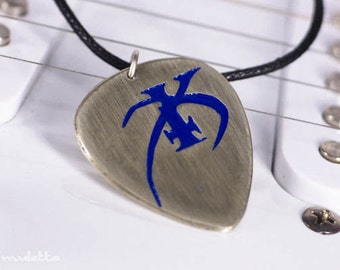 Custom Initial Guitar Pick Necklace K or any Letter You Need