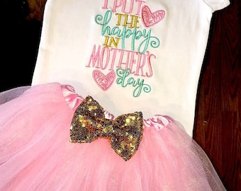 Girl Mother's Day Outfit, Girl Toddler Mothers Day Outfit, Baby Girl Mother's Day Outfit, Mothers Day Tutu Set