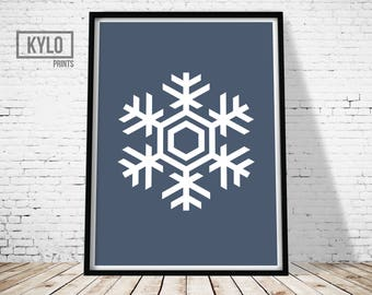 Snowflake Print, Printable Art, Home Print, Christmas Art, Gift Ideas, Home Wall Art, Home Decor, Snowflake Art, Art Print, Christmas Print