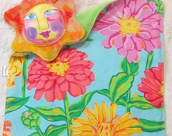 Flower Blanket - Flower Lovie - Plush Flower - Soft Flower Lovey - Security Blanket - Travel Toy - Simple Toy - Flower Rattle - Comfort Toy