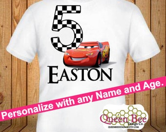 Cars Birthday Shirt - kids Birthday Shirts - Personalized Shirts - Custom Shirts - Kids - Birthday Shirts-
