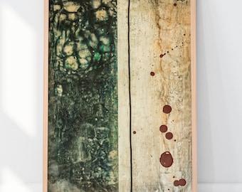 Art Print Abstract Encaustic