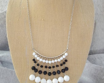 Black and White Chandelier Necklace