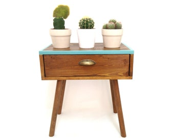 Mid Century Modern Tables, Midcentury Bedside Table, Scandinavian Table, Retro Nightstand, Coffee Table, Bedside Drawers, Side Table