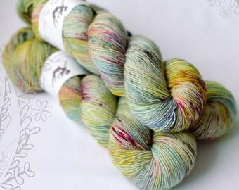 MERINO SLIGHT - Aquarelle (1) - hand dyed yarn, 100% superwash extra fine merino, singles