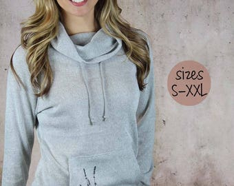 Womens Hoodie. Graphic Tees for Women. Womens tunic. Womens Plus Size Clothing, cowl neck hoodie, women's cowl neck hoodie, plus size