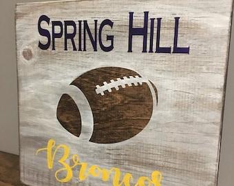 Custom school football sign!