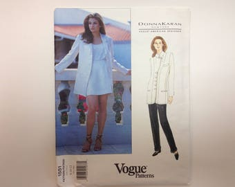 Vogue Pattern Size 8-10-12 - Donna Karan New York Jacket, Shorts and Pants - 1995 Vogue American Designer Pattern