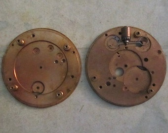 Vintage pocket Watch movement parts - Pocket watch plates Steampunk - Scrapbooking E28