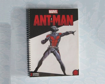 Ant-man notebook - comic book journal - repurposed planner