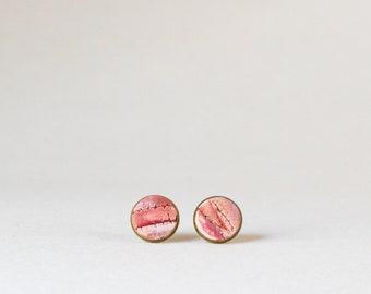 Pink Stud Earrings Everyday Small Stud Earrings Casual Dainty Earrings pink Posts