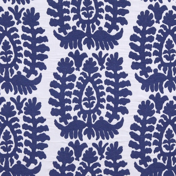 Attrayant Cobalt Blue Ikat Upholstery Fabric   Modern Blue White Home Decor Yardage    Ikat Roman Shade   Dark Blue Throw Pillow Covers   Ikat Online From ...