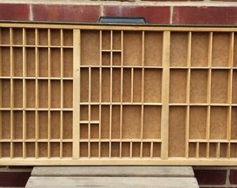 Printers drawer, Hamilton printers tray, letterpress drawer, typepress tray, shadowbox, collectibles display
