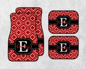 Personalized Car Mats - New Car Floor Mats - Custom Car Mat Set - Monogram Car Mat Set - Preppy Car Mats - Full Set Car Mats - New Driver