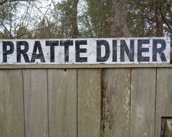 Diner Sign, Fixer Upper Reproduction Sign,40x7.25, Customized Diner Sign, Barnwood Sign