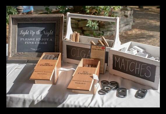Wedding Cigar Bar Sign Wedding Sign Chalkboard Wedding