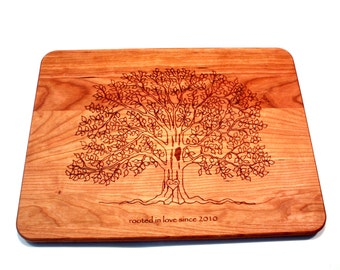 Personalized Tree Cutting Board, Initial Tree Cutting Board, Wedding Gift, Housewarming Gift, Birthday Gift, Engraved  Cutting Boards