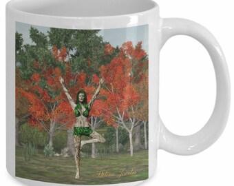 Yoga Fantasy Dryad Tree Pose Mug