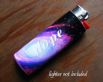 Dope Galaxy Sticker Vinyl Waterproof for Lighter, wrap, skin, cover, smoke weed, pot, bic, 420