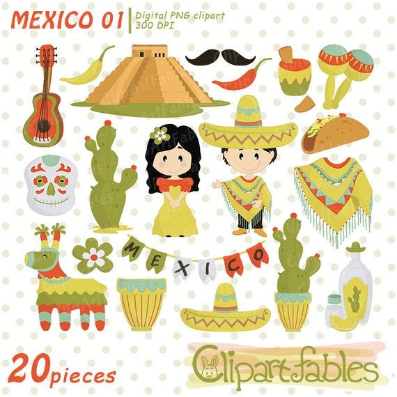 Mexican Cinco de Mayo clipart Mexican clip art party aztec