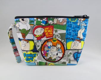 Family Guy Comics Makeup Bag - Accessory - Cosmetic Bag - Pouch - Toiletry Bag - Gift